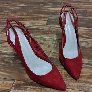 Shoedazzle heels red us 11